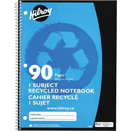Cahier de notes recyclé