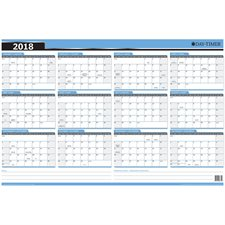 Reversible 2018 Wall Planner