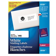 Easy Peel® White Laser Mailing Labels