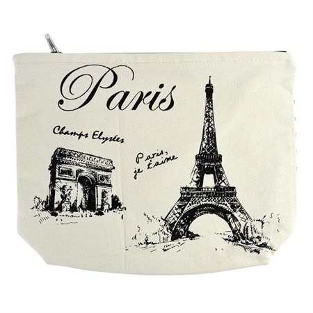 Paris Canvas Pencil Pouch