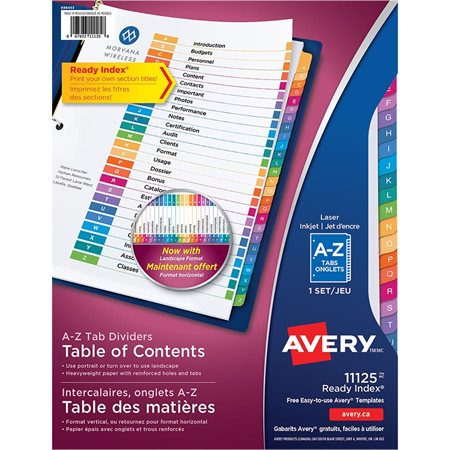 Avery Ready Index Template 31 Tab Nicolas Gastineaufo