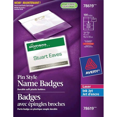 Badges avec épingle broche
