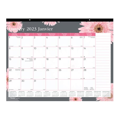 Pink Ribbon Monthly Desk Pad Calendar (2018)