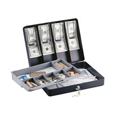 Deluxe Cash Box with Tray